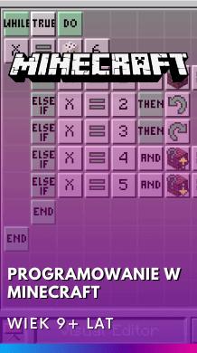 kurs programowania w minecraft